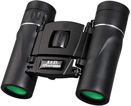 WXDP Telescopio de alta potencia, 8 x 21, binoculares compactos con zoom de largo alcance, 1000 m, plegable, HD, potente, mini BAK4 FMC, óptica, deportes de camping