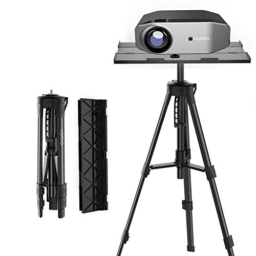 Projector Stand, Vamvo Tripod Laptop Stand, Portable Adjustable Projector Stand, Floor Stand Holder Adjustable Height from 42 cm to 115 cm with Folding Plate