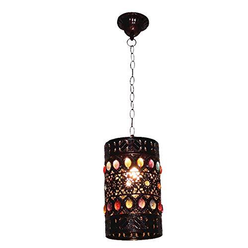 Lámparas de Techo de lámpara marroquí, lámparas Colgantes turcas E14 Socket Lámpara de araña Industrial Vintage para Sala de Estar, Mesa de Comedor, Multicolor, F