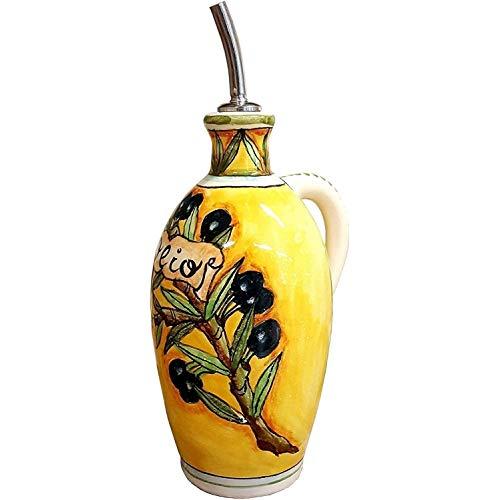 CERAMICHE D\'ARTE PARRINI- Italienische Kunstkeramik, Menage Öl, Dekoration, oliven,hergestellt in Italien Toscana