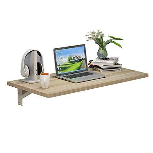 Fold Wall Mounted Table Folding Workbench Drop-Leaf Table, Computer Desk, for Home Office/Laundry Room/Home Bar/Kitchen & (Size : 90x50cm/35.5x20in)