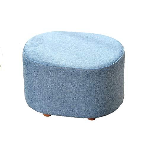 Lianlili Taburete Corto del Taburete Corto de la Sala de Estar de la Sala de Estar del sofá del Banco del Zapato del Cambio del Taburete, los 40cm * 30cm * 27cm (Color : Blue)