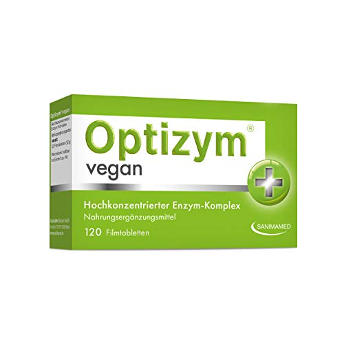 OPTIZYM Vegan Enzym-Komplex I 6-fach Enzyme (Bromelain, Papain, Protease, Lactase, Amylase, Lipase) Hochdosiert digestive Verdauungsenzyme - Tabletten (120 Tabletten)