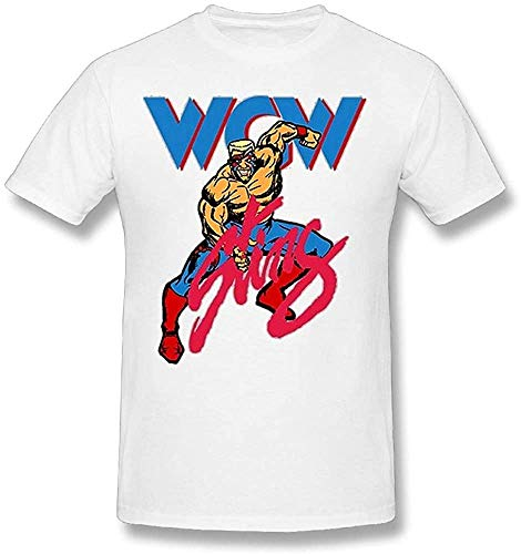 Men's Sting WCW Wrestling Retro Adult Regular Fit Casual Short T Shirts Tee White,White,XX-Large