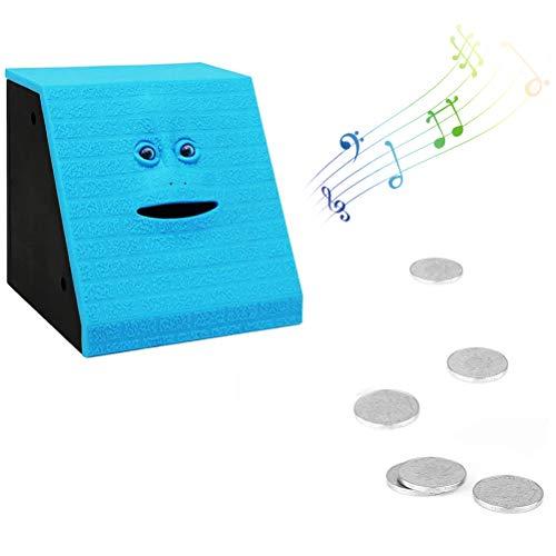 Yunobi Spardose mit Gesicht – Elektronische Spardose zum Essen von Münzen, Spardose für Jungen und Mädchen, himmelblau/blau (Blau) - YUNO24292733613