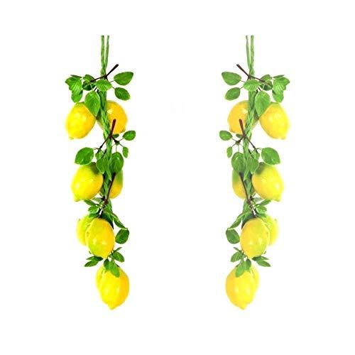 Trade Shop - Treccia Limoni Frutta Finta Artificiale Composizione BANCO Limone AGRUMI - 15945