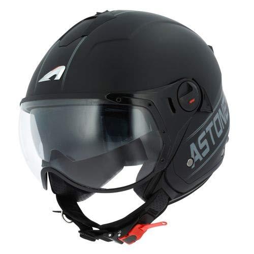 Astone Helmets - MINIJET S SPORT COOPER graphic - Casque jet compact - Casque de moto look sport - Casque de scooter mixte - Casque en polycarbonate - black/grey M
