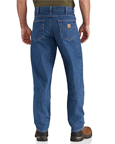 Carhartt Men's Relaxed Fit Tapered Leg Jean (Regular and Big and Tall Sizes), Dark Stone, 31W X 30L