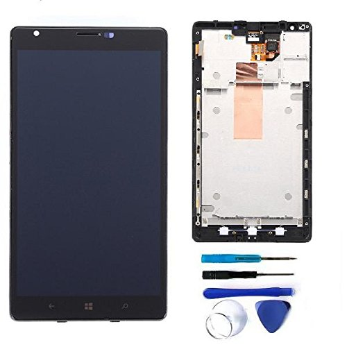 Schermo LCD Digitizer + vetro tattile di ricambio con cornice per Nokia Lumia 1520.