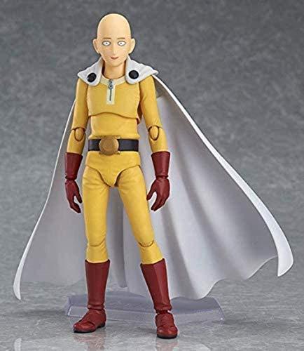 Figura de acción One Punch Man Doll Saitama Figura Modelo (versión de Traje de héroe) Figura de Anime Modelo Hecho a Mano Modelo de niños Figuras de acción de Juego 14cm