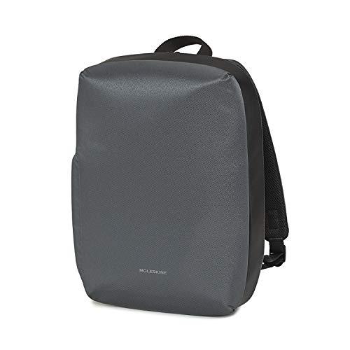 Moleskine - Mochila para PC, portátil, bolsa de ordenador de 15 pulgadas y tablet, con material impermeable, resistente al agua, tamaño 35 x 27 x 9,5 cm, color gris