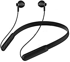 Eloquence Wireless Earphones Headphones For All Android Phone Sports Bluetooth Wireless Earphone With Deep Bass And Neckband Hands Free Calling Inbuilt Mic Headphones With Long Battery Life And Flexible Headset