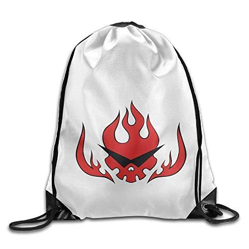Harla Gurren Lagann Gym Bag Drawstring Backpack White Fashion