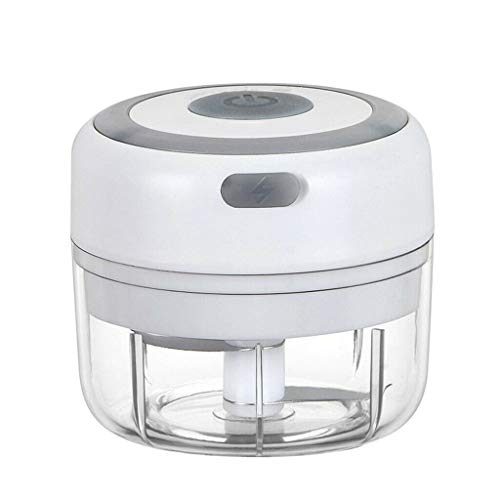 xinpeng Picador de Alimentos Eléctrico Mini Picador De Ajo Picadora Eléctrica con Carga USB Trituradora de Alimentos Procesador de Alimentos para Cocina y Alimentos para Bebés-100ML