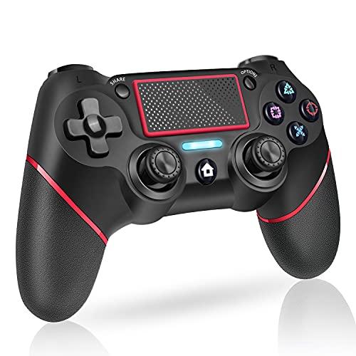 PS4 コントローラー ワイヤレス 600mAh大容量バッテリー PS4 ゲームパッド 6軸ジャイロセンサー 二重振動 重力感応 PS4 コントローラー Bluetooth イヤホンジャック タッチパッド機能 リンク遅延なし 日本語取扱説明書付き