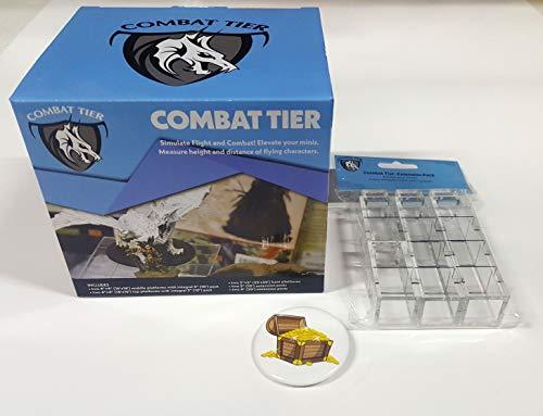 Bundle of Combat Tiers Base Set and Extension Pack Plus Treasure Chest Button