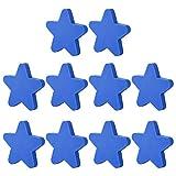 YAVSO Pomos y Tiradores, 10pcs Estrella Pomos Armario Estrell Tiradores de Muebles para Cajones, Armario, Puertas, Alacena, Gabinete (Azul)