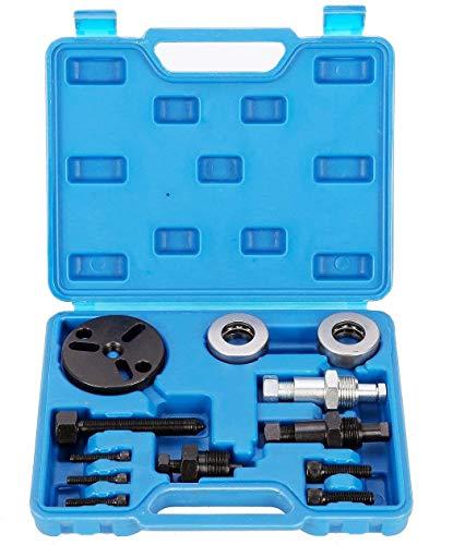 FreeTec Kupplungsmontage Druckluftkompressor AC-Kupplungsabzieher Entferner Kit A/C Automotive Lager Demontage Auto-Klimaanlagenentferner Werkzeug