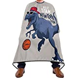 Glaphy Basketball Player Dinosaur Barber Cape for Adults Kids, Professional Salon Hair Cutting Capes Waterproof Haircut Apron Cape55x65 in