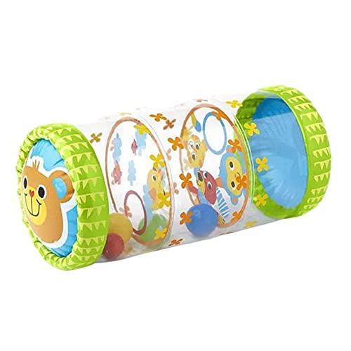 Krabbelrolle Aufblasbar Spielrolle Baby PVC Babyrolle Baby Spielzeug Rollen Baby Rolle Aufblasbar Ab 6 Monate Stehaufmännchen Baby Krabellroller Fördert Die Motorik Von Kindern