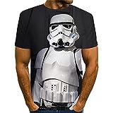 Aatensou (Star Wars) Camisetas para niño, verano, unisex, sueltas, de manga corta, estilo informal,...