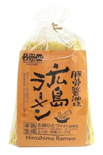 瀬戸内麺工房なか川 広島ラーメン(豚骨醤油味) 320g ×3袋