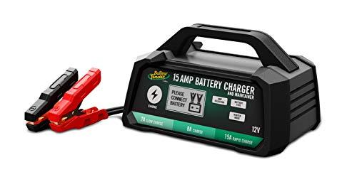 Battery Tender 12 Volt Battery Charger, 15 Amp / 8 Amp / 2 Amp Selectable Chemistry by Deltran - 022-0234-DL-WH