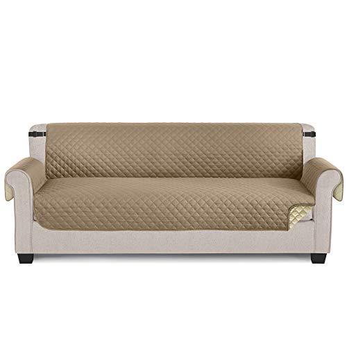 TAOCOCO Funda para sofá ,Funda Protectora para sofá para Mascotas Funda Deslizante, Almohadilla de protección contra Desgaste y Grietas-Beige, 4 Plaza