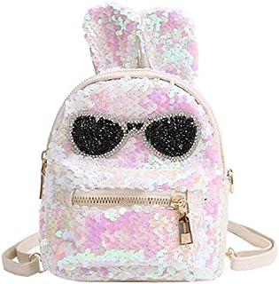Luggage & Bags Sequins Shoulder Bag Student Children School Bag(Black) Luggage & Bags (Color : White)