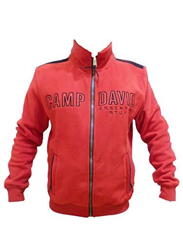 Camp David Herren Fleecejacke mit großem Logostick