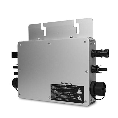 MPPT Micro Wechselrichter Grid Tie Inverter Mikrowechselrichter 600W Waterproof IP65 Modulwechselrichter WVC-600, DC22-50V to AC230V
