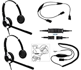 Deluxe Headset Training Solution (Includes 2 x TruVoice HD-550 Double Ear headsets with a NC Microphone, Training Cord and a Smart Lead That Works on 95% of Phones with RJ9 / RJ11 Headset Port)