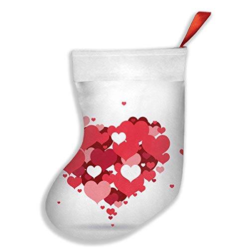 Voxpkrs Red Love Hearts Personalized Christmas Stocking