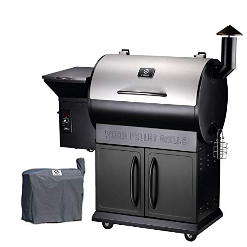 Z GRILLS 2020 Upgrade Wood Pellet Grills 8-in-1 Smoker Grill 700 SQIN Cooking Area,20LB Hopper Free Cover Gift Smokers