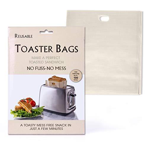Ankway Toasterbag (6er-Paket), Antihaft Toastabags für Mikrowelle, Toaster und Backofen-Premium Qualität, Wiederverwendbar bis zu 100 Mal