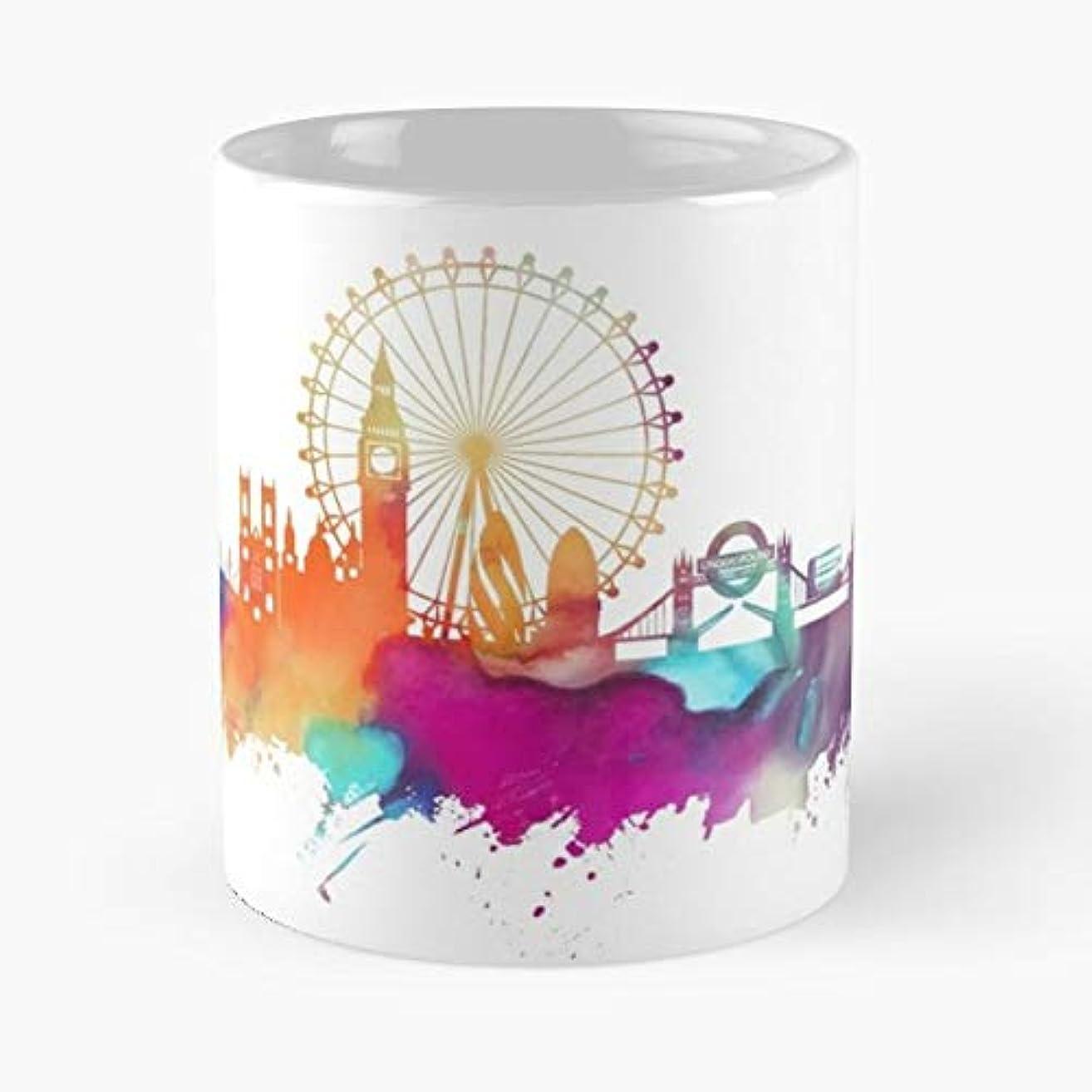 London England Skyline - Coffee Mugs Unique Ceramic Novelty Cup