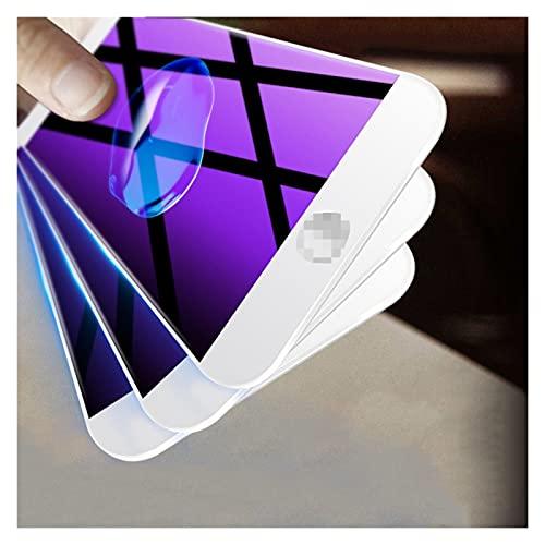 MDBH 3PCS Curvo Full Cover Vetro Per I-Phone 7 8 6S Plus Temperato Screen Protector Per I-Phone 8 7 6 SE 2020 Vetro Film (colore : Bianco, Materiale: Per iphone SE 2020)