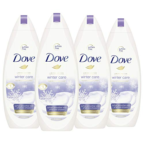 Dove Body Wash To Nourish and Moisturize Dry Skin Winter Care for Softer, Smoother Skin After Just One Shower 22 oz, 4 Count