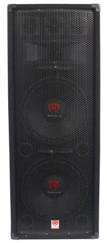 "Rockville Dual 12"" 2000 Watt 3-Way 8-Ohm Passive DJ/Pro Audio PA Speaker (RSG12.2)"