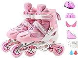 Roller Patins à roulettes pour filles Enfils Simple rangée Double rangée 2 en 1 Patin de rouleau quadruple intérieur intérieur, extérieur, rouleaux de roller à patin pour enfants fait pour enfants Gre