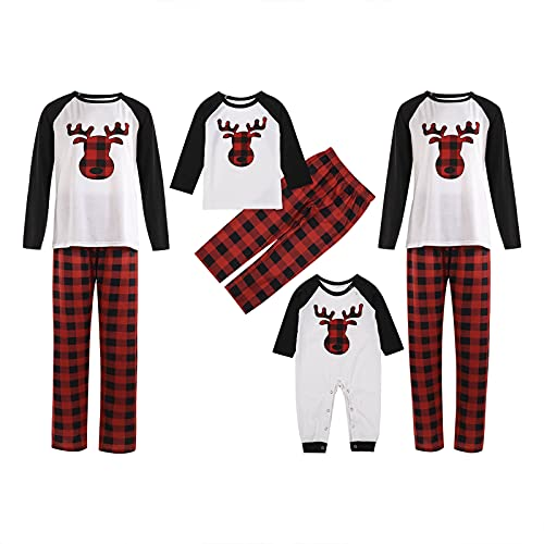 Matching Christmas Pajamas for The Whole Family 4 People PJS Set Fashion Print Sleepwear Set for Women Men