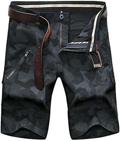 JiuRui Leisure Shorts Men Cargo Shorts Camouflage Short Men Cotton Shorts Plue Size 42 (Color : Blue Camouflage, Size : 30)