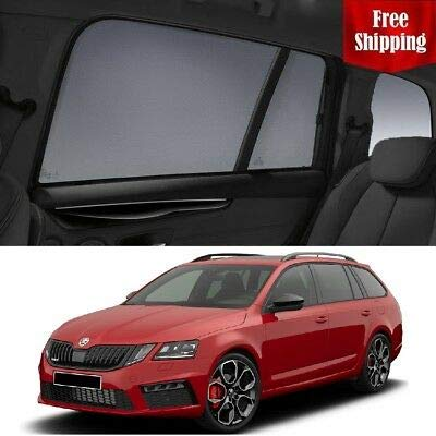 Lowest Prices! Magnetic Car Window Shades for Skoda Octavia Wagon 2016-2018 Car Rear Sun Blind Shade...