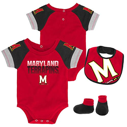 Outerstuff Infant University of Maryland Terps Creeper Set Baby Snapsuit Set (18 M)