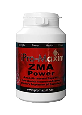 ZMA iPro-Maxim Power(180 caps) 1000MG per vegi cap. STRONGEST GRADE None Steroid, Advanced Anabolic Mineral Support from iPro-Maxim