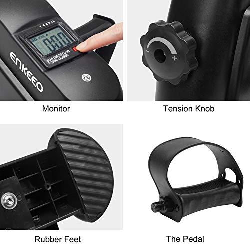 ENKEEO Mini Vélo d'Appartement Pédalier Pliable pour Bras et Jambes avec Ecran LED