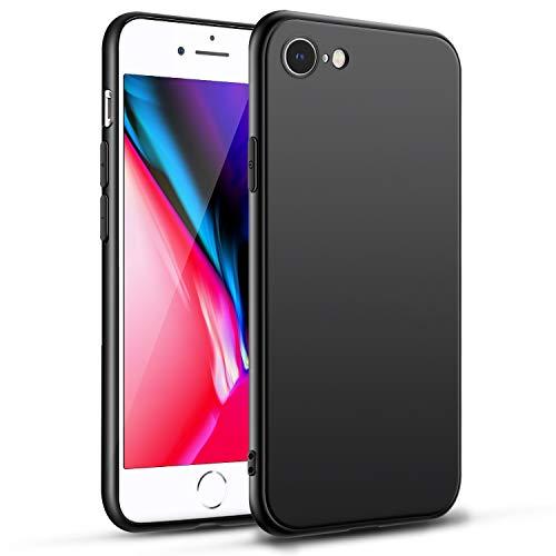 para iPhone 7 Funda iPhone 8 Funda Anti- Choques y Anti- Arañazos Carcasa Negro Protectora para iPhone SE2020/7/8 Case - Negro
