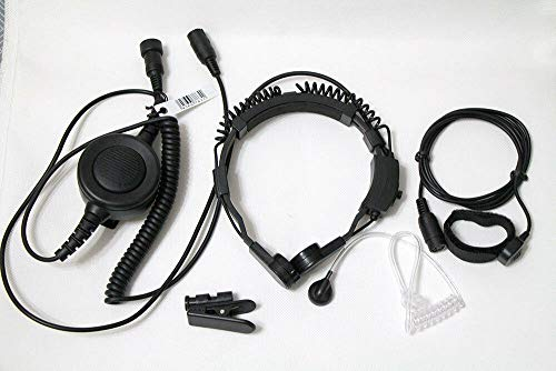 WishRing Military Throat Mic Headset Earpiece Waterproof Big PTT for...
