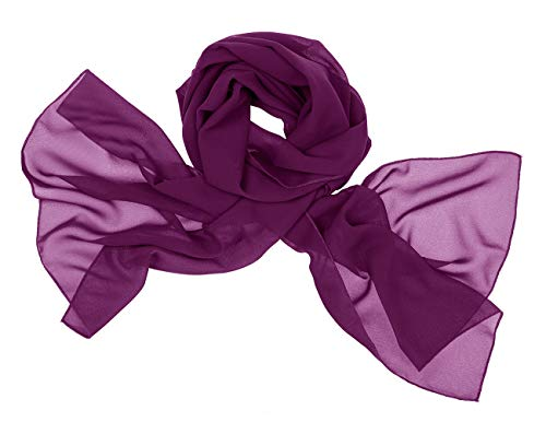 bridesmay Chiffon Stola Schal Scarves für Kleider in Verschiedenen Farben Grape M