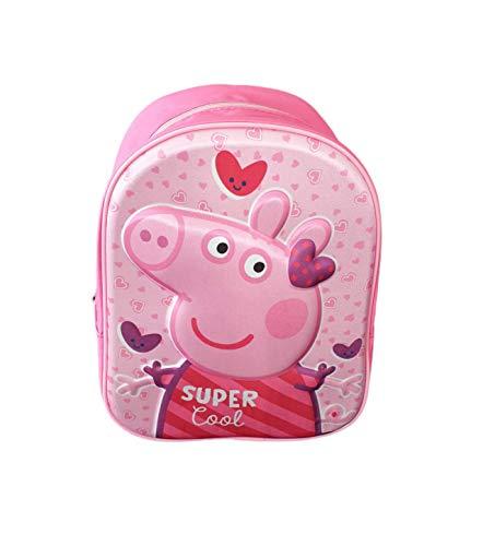 | Mochilas Peppa Pig 3D Escolar para Niñas y Niños de 3 A�